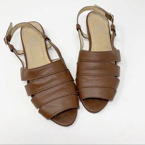 American Apparel Brown Slingback Sandal Size 8